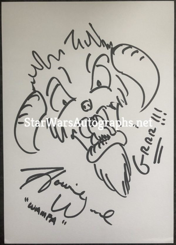 Howie Weed Sketch Wampa 5 Hand drawn and signed