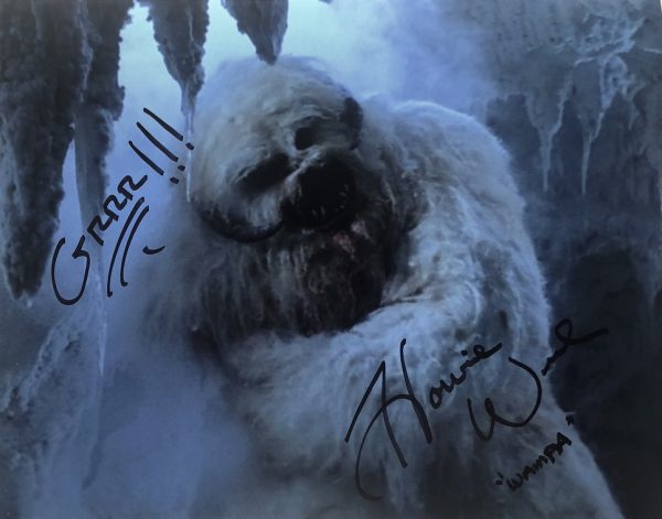 Howie Weed 11x14 autograph photo Wampa Star Wars