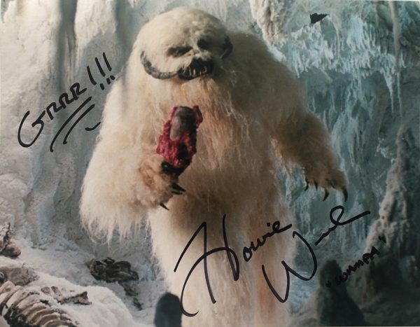 Howie Weed 11x14 signed photo Wampa Star Wars