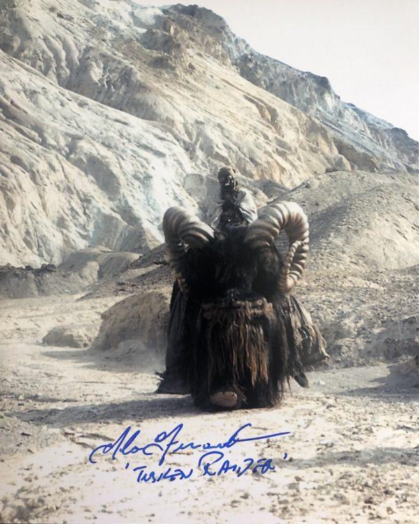 Tuskan Raider actor Alan Fernandes signed Star Wars photo