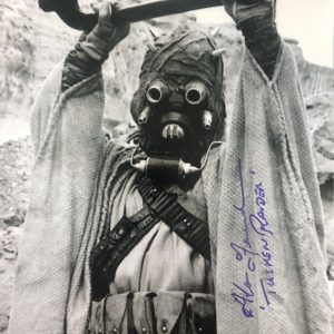 Alan Fernandes Tusken Raider signed Star Wars photo