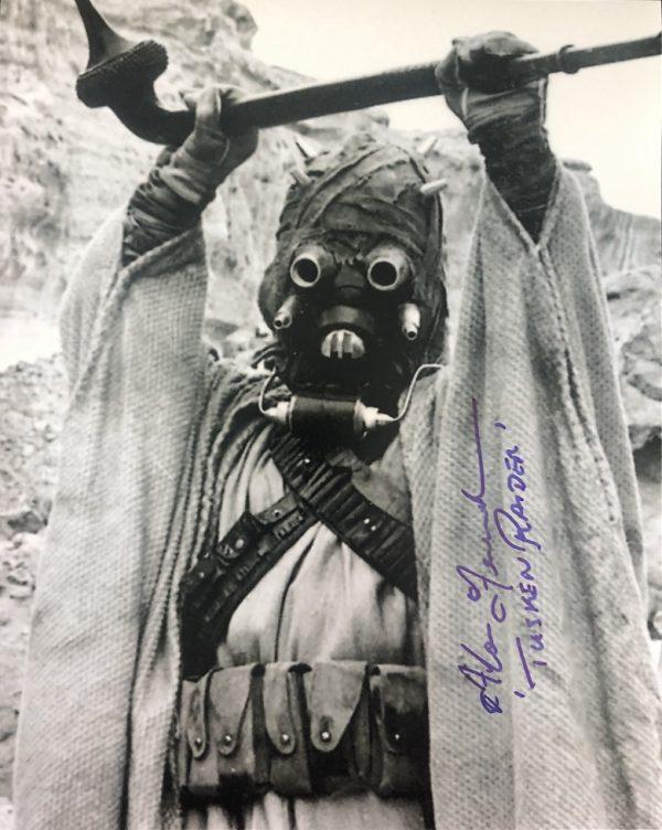 Alan Fernandes Tusken Raider signed Star Wars photo