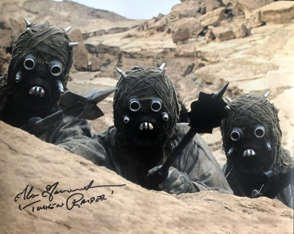Sand People Alan Fernandes signed photo | Tusken Raider 8x10