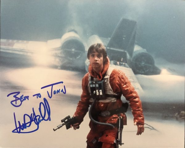 Mark Hamill Autographed photo Luke Skywalker Star Wars
