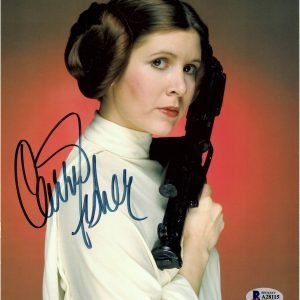 Carrie Fisher signed Star Wars Princess Leia photo 8x10 Beckett
