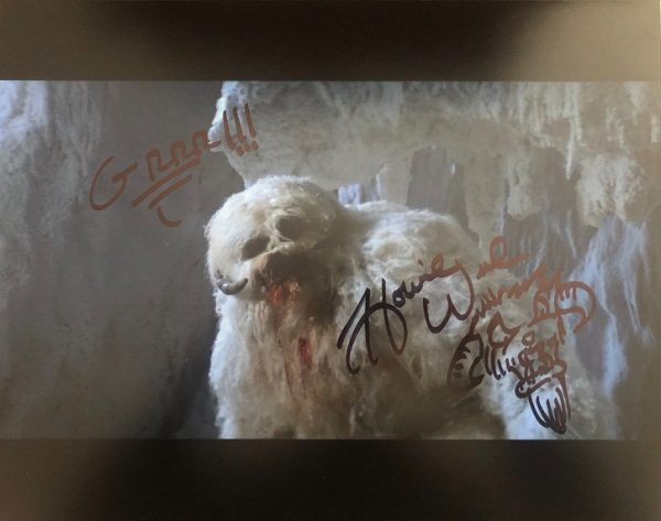 Howie Weed sketch signed photograph Star Wars Wampa 11x14
