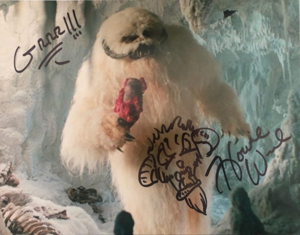 Howie Weed signed sketch photo Star Wars Wampa 11x14