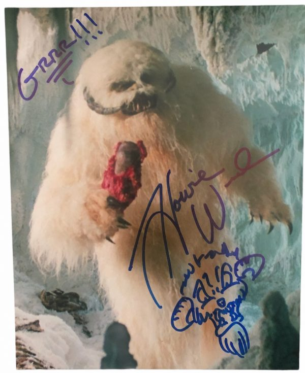 Howie Weed Wampa signed photo sketch 8x10 Star Wars