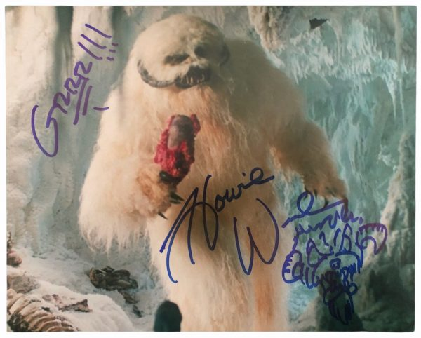 Howie Weed Wampa sketch photo autographed 8x10 Star Wars