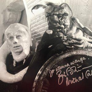 "Michael Carter Bib Fortuna signed photo Star Wars 8x10"""