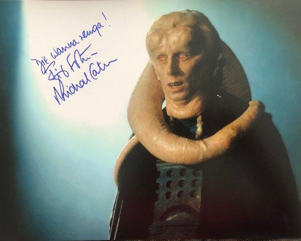 Michael Carter signed Bib Fortuna photo 11x14