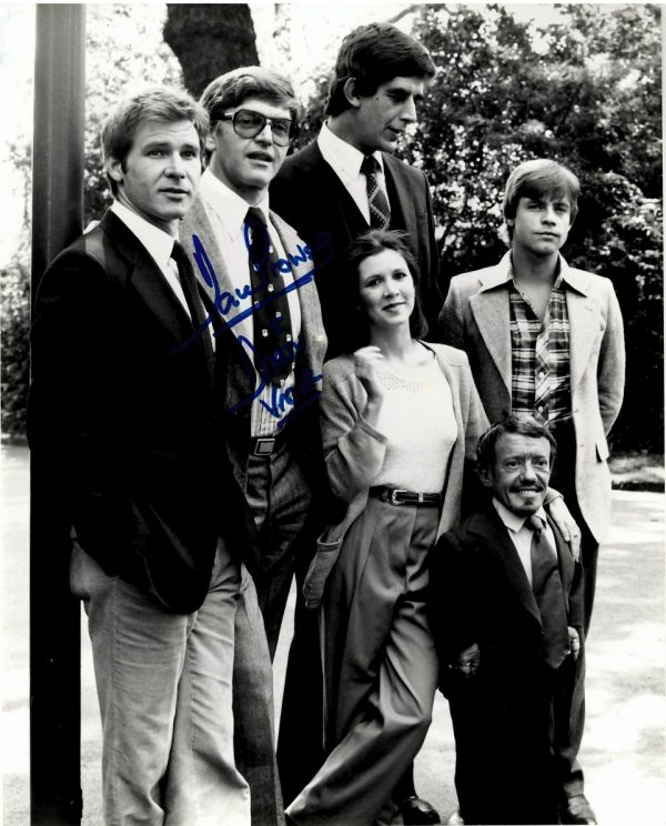 """Dave Prowse Cast Photo Darth Vader signed Star Wars 8x10"""""""