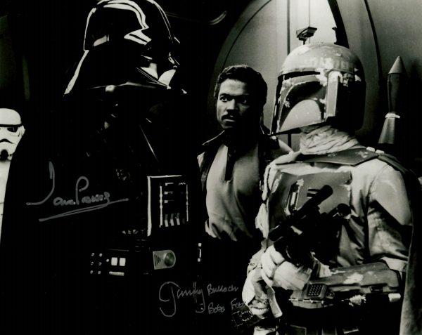 "Dave Prowse Jeremy Bulloch signed Star Wars photo 8x10"""