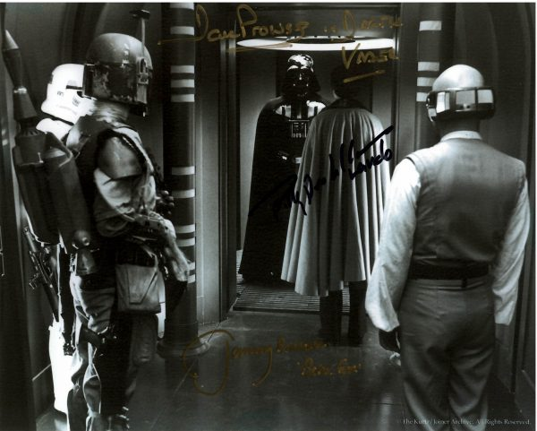 """Dave Prowse Billy Dee Williams Jeremy Bulloch Autographed photo 8x10"""""""