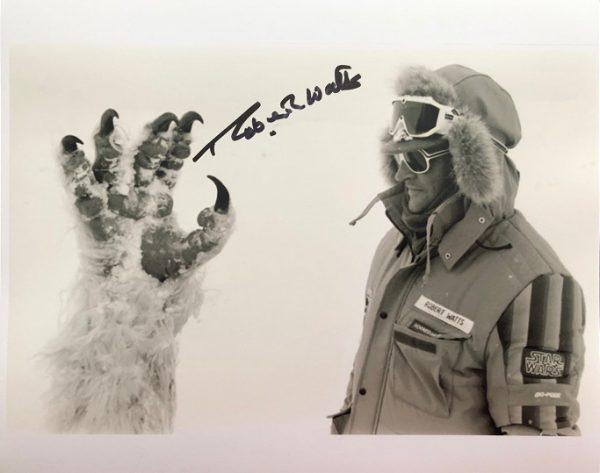 Robert Watts Autographed Wampa photograph 8x10 Star Wars 3