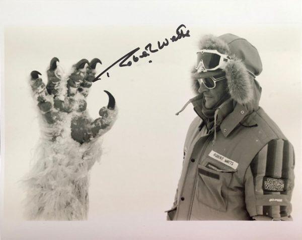 Robert Watts Autographed Wampa photograph 8x10 Star Wars 4