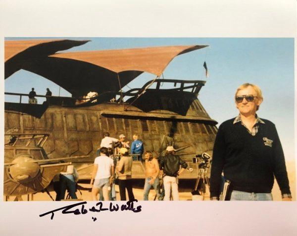 Robert Watts signed Sail barge photograph 8x10 2
